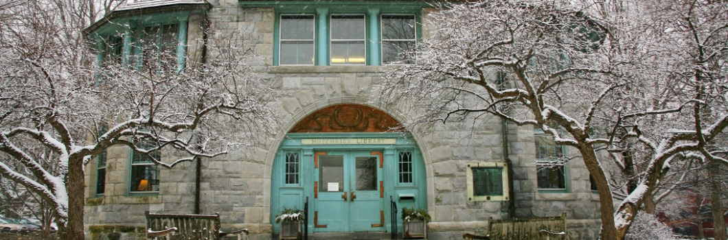 Hotchkiss Library Outside Winter Photo Cropped